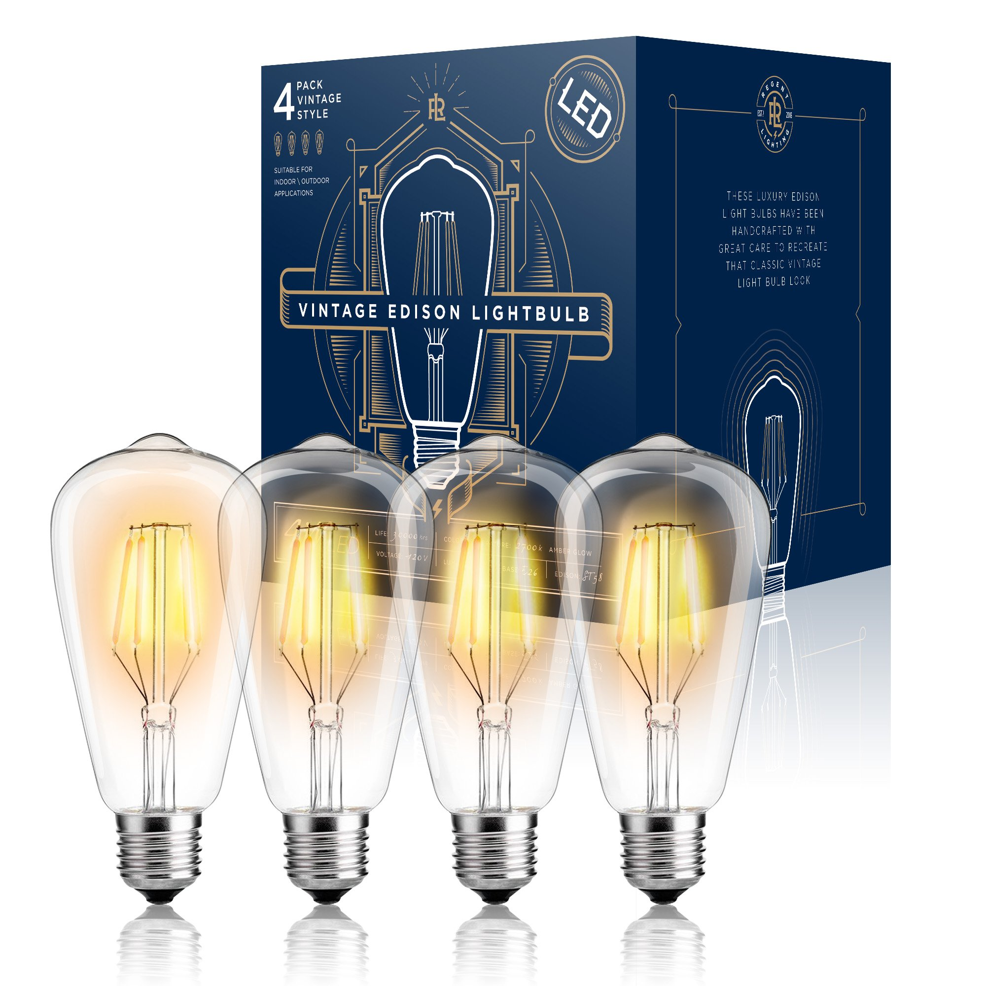 Cheap edison bulbs lowes find edison bulbs lowes deals on line at edison led light bulb dimmable ul listed 4 w st64 warm color 2300k mozeypictures Image collections