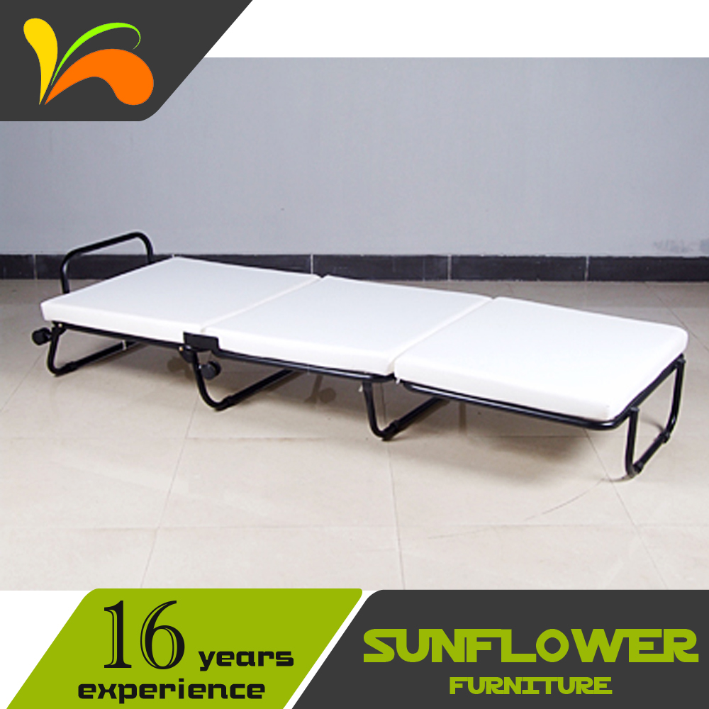 - Roll Away Metal Single Folding Bed Fold-out Ottoman Bed & Cover