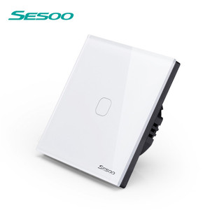 SESOO Phone App Directly Control Work For Alexa and Google Home WIFI app Touch wall Switch