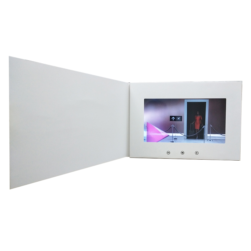 Et-digital video greeting card box circuit lcd touch screen da 7 pollici a6 video mailer, lcd video brochure carta