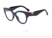 Роскошные очки ROSANNA с кошачьим глазом, женские брендовые дизайнерские очки 2020, винтажные черные женские оправы для очков, прозрачные линзы, ...(Китай)