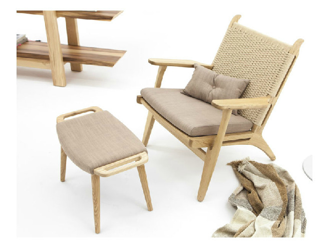 Modern simple furniture/pure solid wood leisure chair/fashion stool/arm-chairs back rest chair/European log color