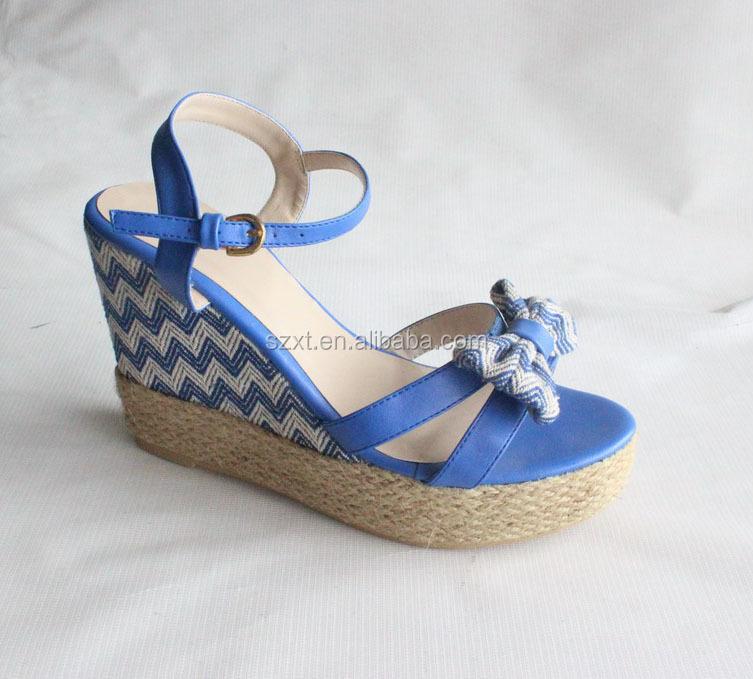 Latest Summer Lady Wedge Heels Sandals,Blue Sandal Wedge,2015 New ...
