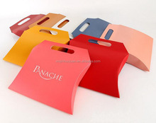 Luxury paper shopping bags die cut pillow bag jewellery gift carry bags