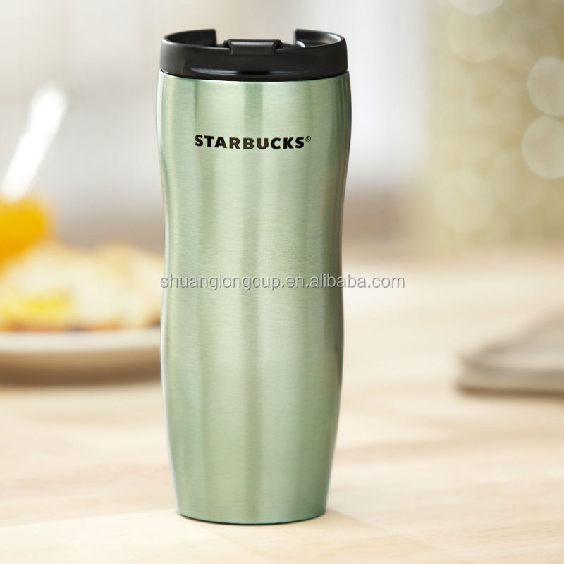 double wall stainless steel travel mug coffee tumbler with flip lid
