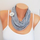 T-shirt necklace Fabric Necklace tshirt scarf Infinity scarf String scarf