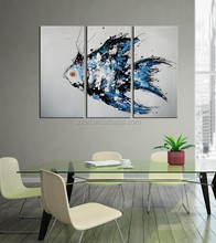 handmade new design poster colour fish wall art oil painting