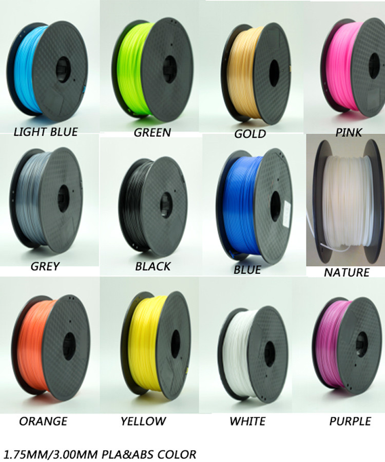 ISO9001 Rohs Approved PLA 3D Printer Filament For 3D Printer Mahchine Sale