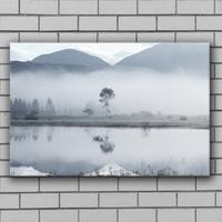 Winter landscape decoration wall spray paint dimmish paintings art on canvas linen