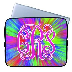 0e73dc3c9d9c Tie Dye 17 17.3 Inch Computer Sleeve Case Cover Cute Colorful Tie Dye  Floral Design Waterproof
