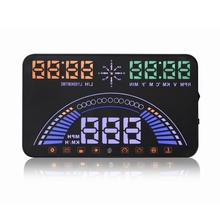 5.8 Inch Universele Digitale Snelheidsmeter <span class=keywords><strong>Auto</strong></span> HUD Head Up Display Venster <span class=keywords><strong>Kit</strong></span> Dash Board Voorruit Display