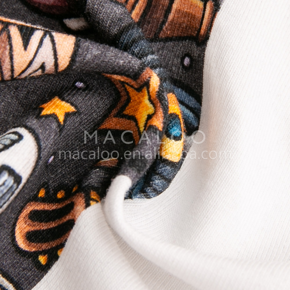 Drop shipping available China Manufactory 4 way stretch custom cotton knit fabric printing