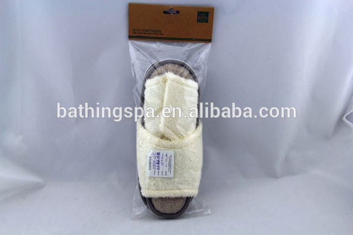 Hot selling encircles hemp bath slippers