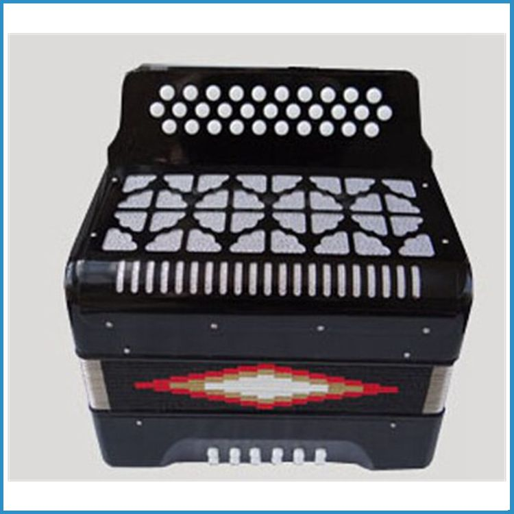 31 botón 12 bass acordeon, Botón drop shipping acordeon, Acordeon de botones con funda de transporte Fabricantes de fabricación, proveedores, exportadores, mayoristas