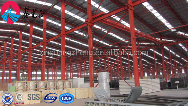 light Structural steel warehouse with factory crane