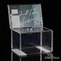 acrylic donation box fund-raising charity cash box collection case
