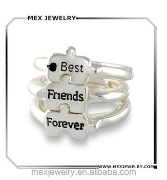 Puzzle Piece Silver Tone Friendship