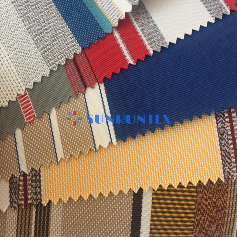 high quality waterperoof tefon coating solution dyed acrylic fabric for awning