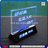 led sign boards with acrylic/display sign/led acrylic box display stand