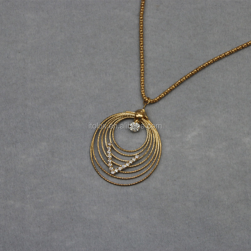 Circle Pendant v word Pendant necklace
