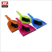Custom model pet room cleaning broom sets plastic household dustpan and brush for table