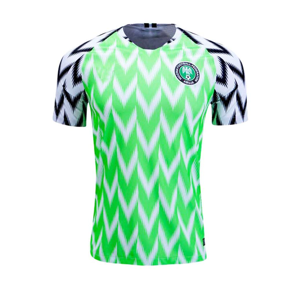 019cb882eaa Get Quotations · Nigeria Jersey Mens 2018 Russia World Cup Home Adult  National Team Soccer Jerseys Green
