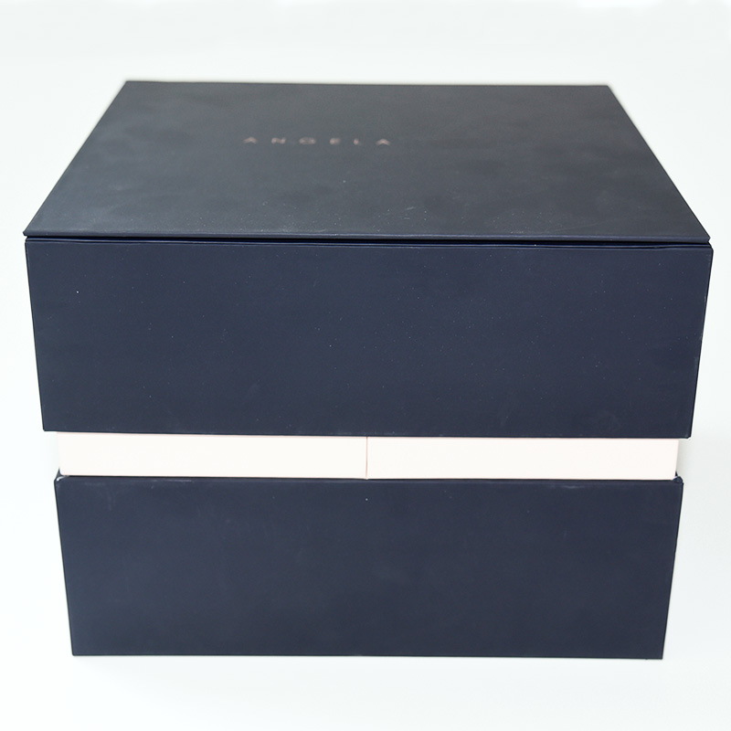 Factory price wholesale matt black gift paper box