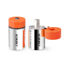 D USB Rechargeable 1.5V 3800mAh Lithium ion Battery