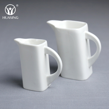 Manufactory White Ceramic Sugar Coffee Creamer Container From Chaozhou