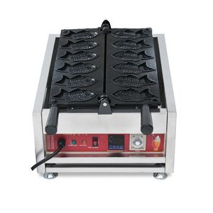 hot selling commercial electric high quality digital ice cream taiyaki making machine fish waffle maker with CE