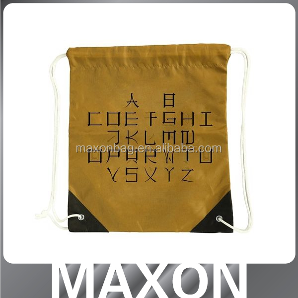 2015 fashion polyester <strong>nylon</strong> drawstring bags