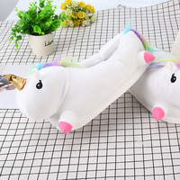 Unique design color unicorn women cartoon slippers bedroom slippers