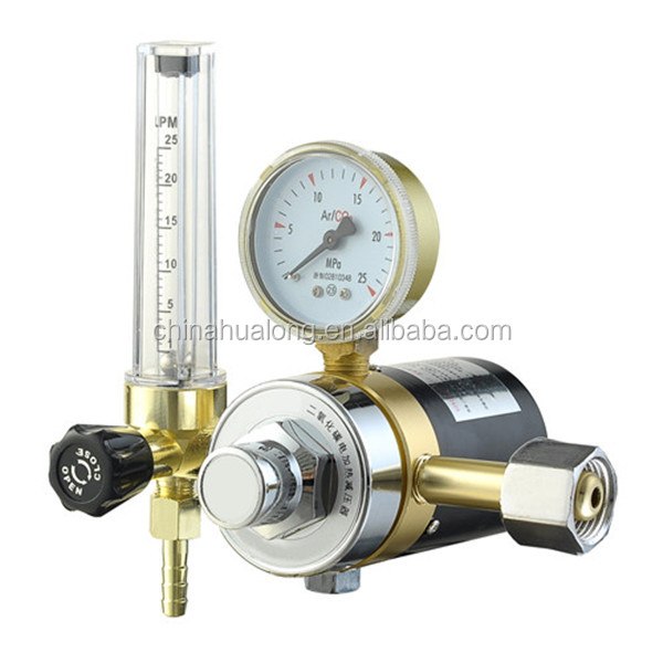 Argon CO2 Mig Tig Flowmeter Regulator Welding Regulator Gauge Gas Welder
