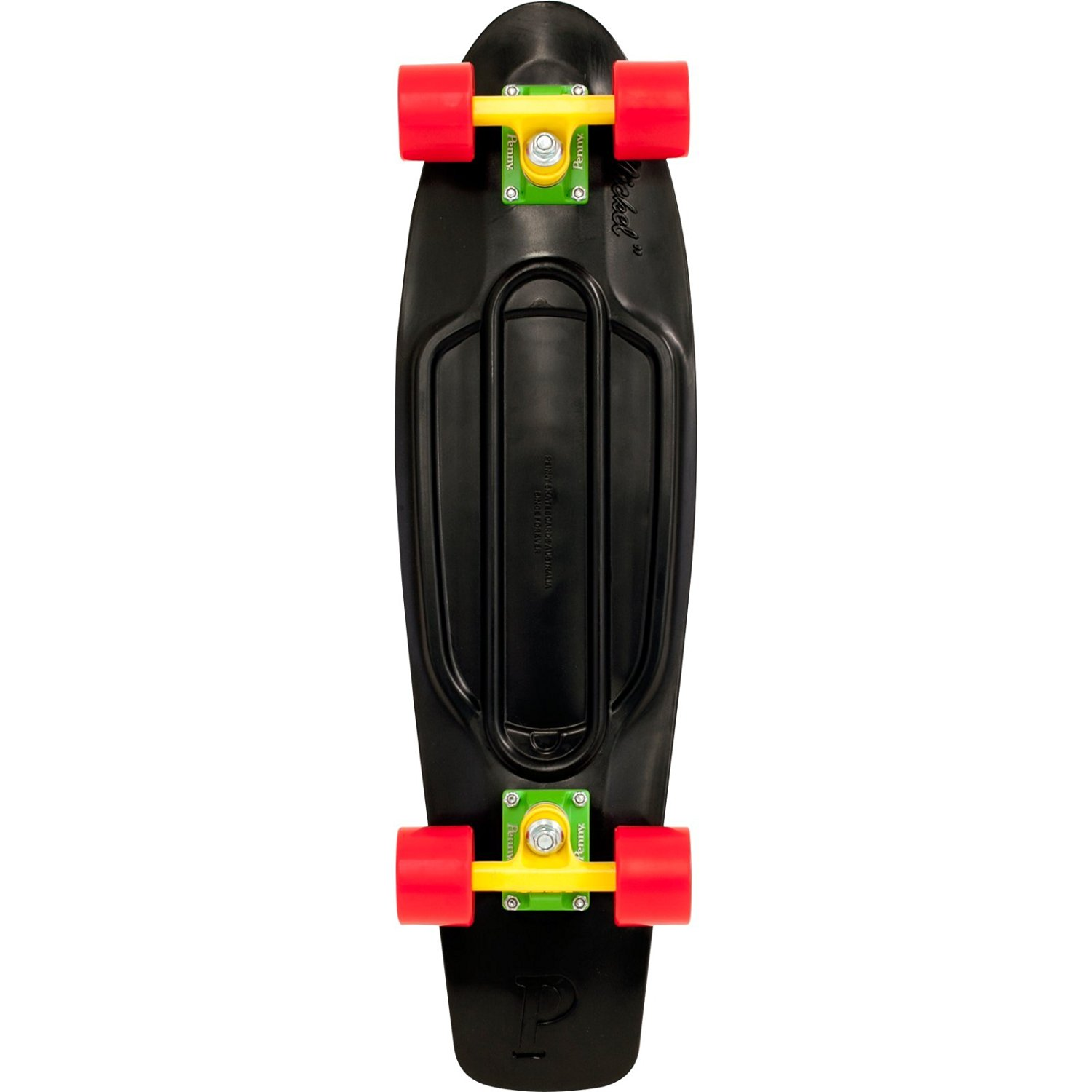 "Penny 27"" Nickel Complete Rasta Black/Yellow/Green/Red Complete Skateboard"
