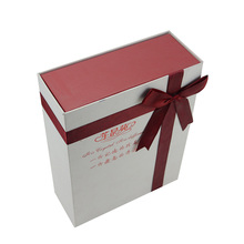 Small folding cardboard gift box wholesale wedding dress gift box with ribbon