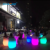 white plastic bar party wedding event Rechargeable Outdoor LED Furniture with rgb 16 colors changing