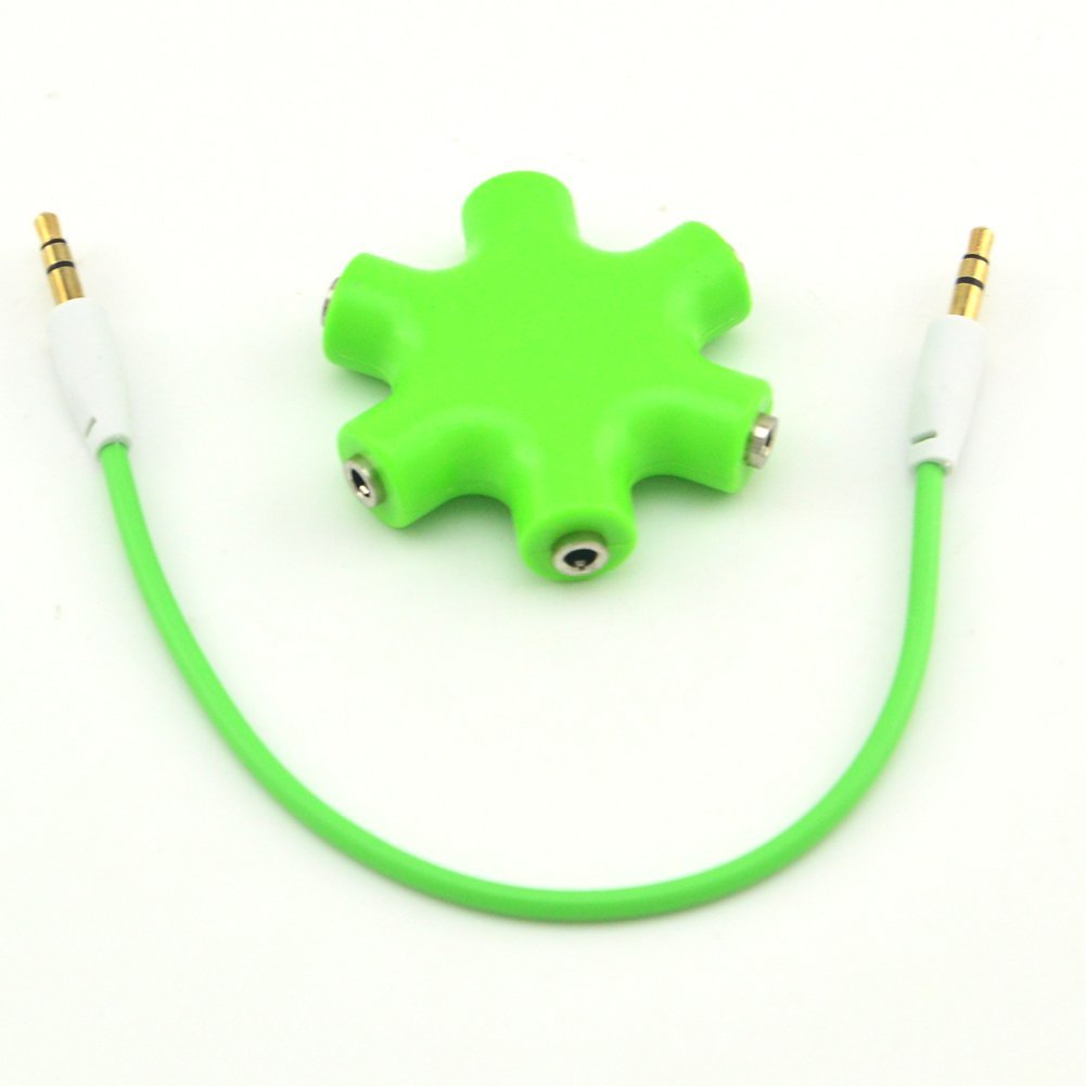 Cheap Green Splitter Find Deals On Line At Alibabacom 6 Way Ports Male To 5 Female Audio Earphone 35mm Jack Adapter Get Quotations Onelinkmore Headphone 35 Port Earbuds