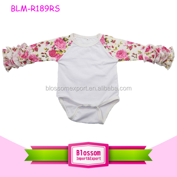 Bodysuits & One-pieces Girls' Baby Clothing Fashion Baby Girls Spring Clothes Cartoon Ruffled Long Sleeves Bodysuit O-neck Cotton Soft Printed Unicorn Bodysuit For Newborn Ample Supply And Prompt Delivery