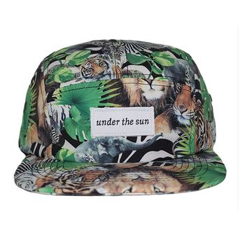 Custom Blank 5 Panel Camp Caps Hats /Custom headwear five panel blank camp cap/camo flat brim cap