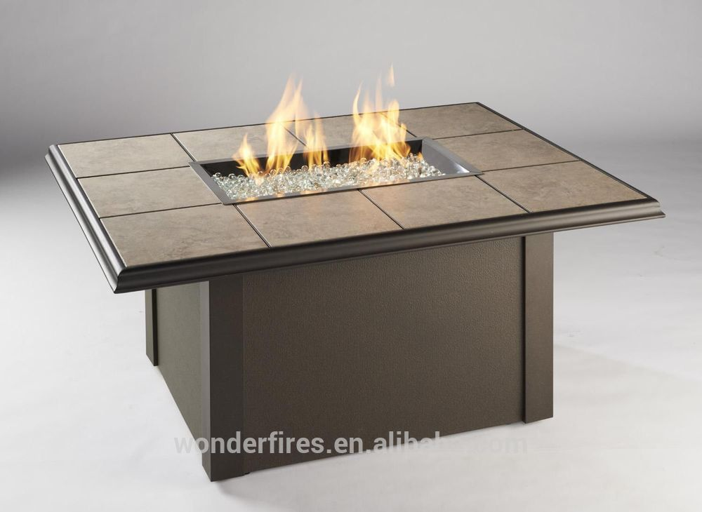 Square Gas Fire Pit Table With Burner And Electronic Ignition For Outdoor Patio Use Buy Fire Pit Table With Ceramic Tiles Marble Fire Pit Table Outdoor Firepit Gas Tables Product On Alibaba Com