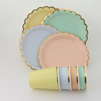 Good quality disposable party plate and napkins sets biodegradable