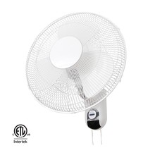 "ETL Approved Plastic Blade 3 Speed Choosable 16"" Wall Mounted Oscillating Fan"
