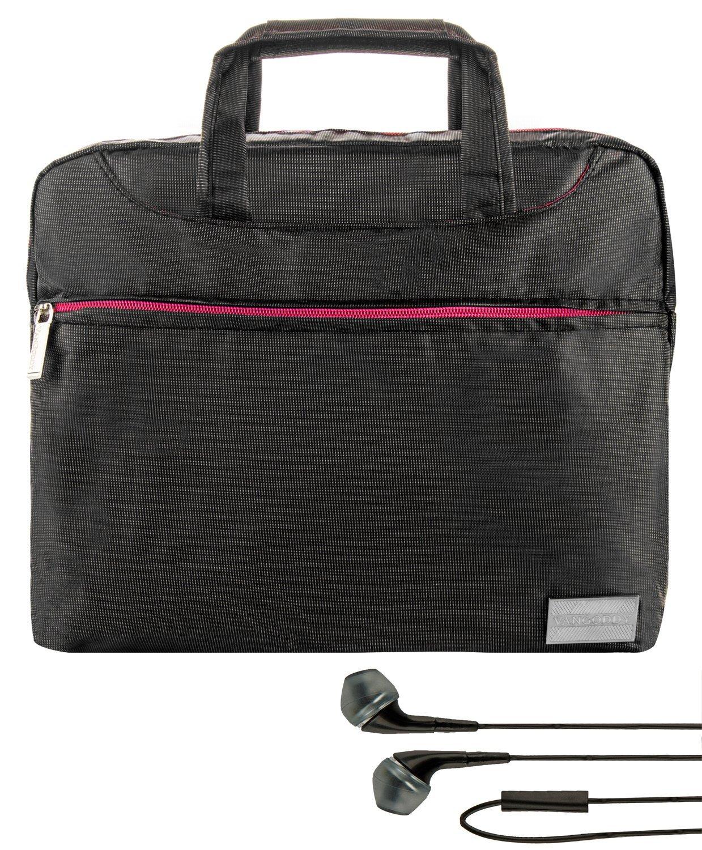 ef90bfc4d5ea Get Quotations · VanGoddy NineO Slim Pink Trim Messenger Bag for Microsoft  Surface Book 13.5