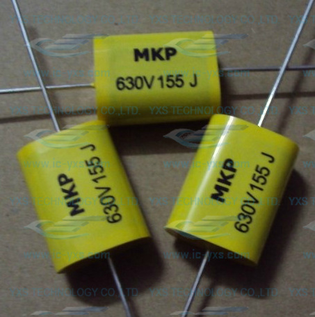 new high frequency power supply special purpose 155J 630V 1.5UF noninductive thin film capacitor
