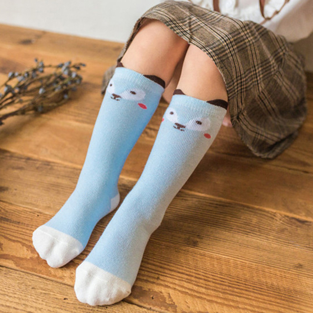 Search For Flights Elinfant Newborn Toddler Baby Sock Baby Girl Boy Socks Anti Slip Cute Cartoon Cat Fox Leg Warmers For Newborns Infant Warm Socks & Tights Mother & Kids