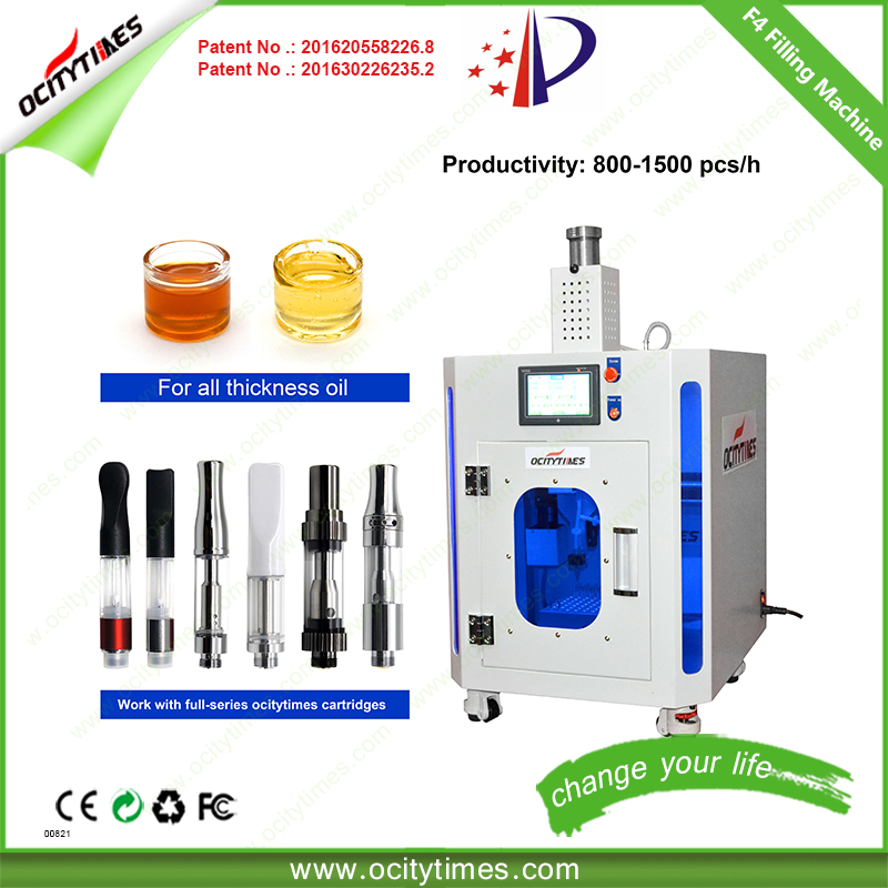 One time fill 100pcs automatic cartridge filling machine/ fast easy filler/ 510 filling machine