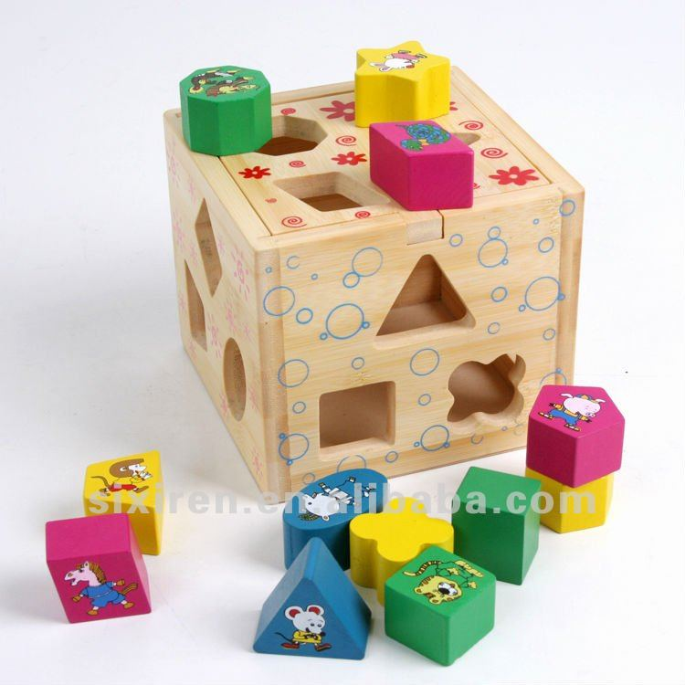 cheap educational wooden toys/ shape intelligence box