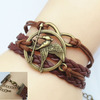 The Hunger Game logo Ifashion bracelet Leather Nautical woven Friendship Bracelets