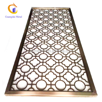 metal screen panels and partition laser cutting for hotel decoration