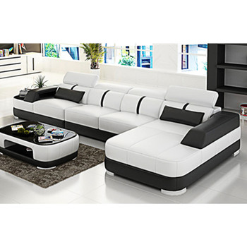 Alibaba Modern Design Genuine Leather European Style L Shaped Luxure  Sectional Furniture Living Room 8 Seater Sofa Set - Buy Living Room Wooden  Sofa ...